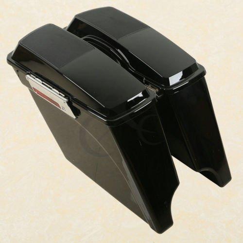 TCMT 5 Stretched Extended Hard Saddlebags Speaker Lid For 93-13 Harley Touring Model