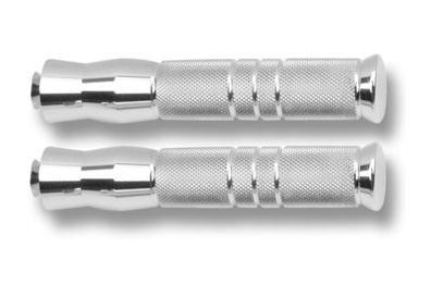 Accutronix Chrome Footpegs - Knurled - Rigid Mount - 7 34in PF121-KGC