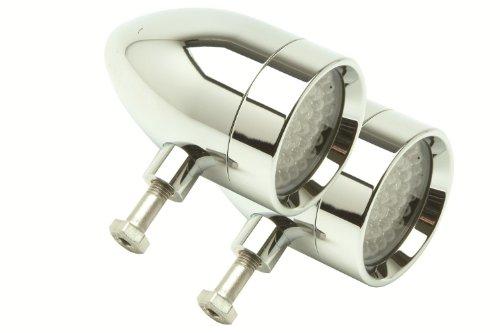 Amber LED Rigid Mount Chrome LSK1801A-R Bullet