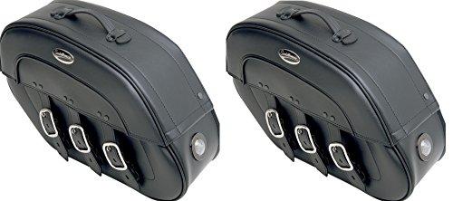Saddlemen 3501-0611-LEB S4 Rigid-Mount Specific-Fit Quick-Disconnect Drifter Saddlebag