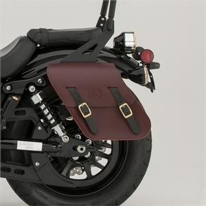 Star Yamaha Accessories Rigid-Mount Leather Saddlebags Oxblood - Yamaha Bolt Models 14-newer
