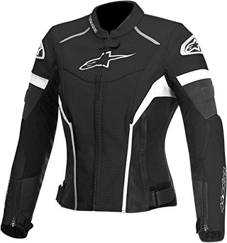 Alpinestars Stella GP Plus R Womens Perforated Leather Riding JacketBlackWhite 40