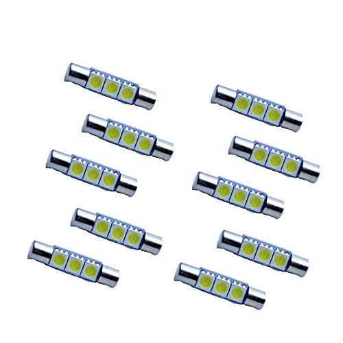 FLYPIG 29mm Festoon 5050 SMD LED Lights Car Interior Vanity Mirror Sun Visor Lamp Bulbs  White