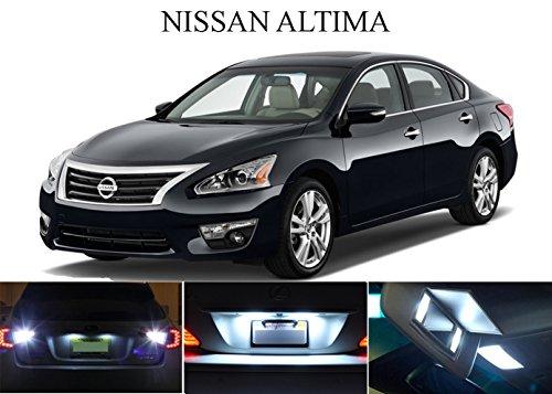 LED light for 2002 - 2015 Nissan Altima Xenon White LED Package for License Plate  VanitySun Visor lights 6 Pieces