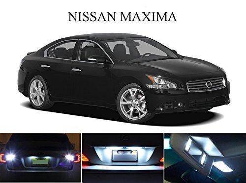 LED light for 2003 - 2015 Nissan Maxima Xenon White LED Package for License Plate  VanitySun Visor lights 6 Pieces