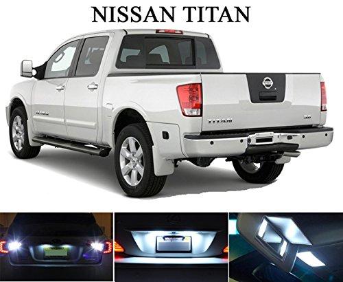LED light for 2004- 2014 Nissan Titan Xenon White LED Package for License Plate  VanitySun Visor lights 6 Pieces