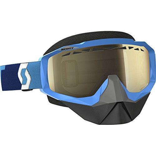 Scott Hustle Adult Snocross Snowmobile Goggles Eyewear - BlueLight Sensitive Bronze Chrome Lens  One Size