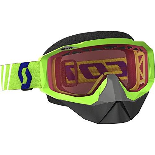 Scott Hustle Adult Snocross Snowmobile Goggles Eyewear - GreenAmplifier Rose Lens  One Size
