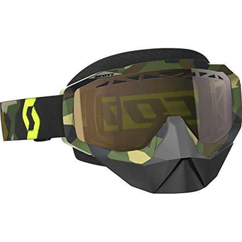 Scott Hustle Adult Snocross Snowmobile Goggles Eyewear - GreyYellowAmplifier Gold Chrome Lens  One Size