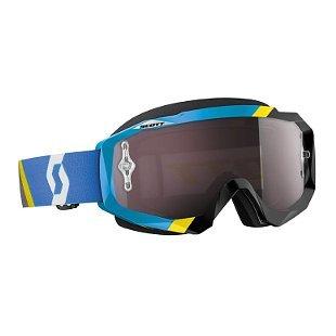 Scott Hustle Asymmetric Goggles - BlueBlackSilver Chrome  One Size
