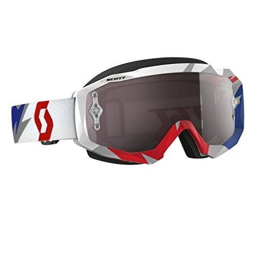 Scott Hustle Cracked Goggles - BlueRedSilver Chrome  One Size