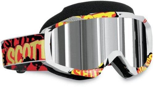 Scott Hustle Mens Snocross Snowmobile Goggles Eyewear - BanterChrome  One Size