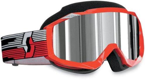 Scott Hustle Mens Snocross Snowmobile Goggles Eyewear - RedACS Chrome  One Size