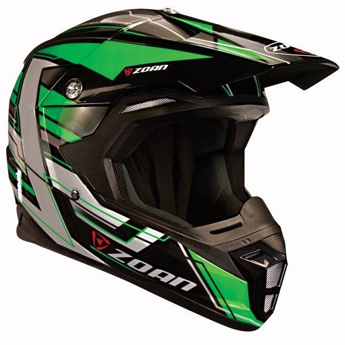 Zoan Synchrony MX Race Equipe Green Motocross Offroad Motorcycle Helmet Small