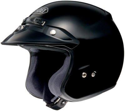 Shoei RJ Platinum R Black Open Face Helmet - 2X-Large