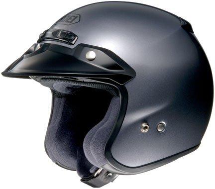Shoei RJ Platinum R Pearl Grey Open Face Helmet - Large
