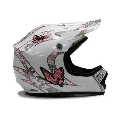 TMS Youth Kids Pink Butterfly Dirtbike Atv Motocross Helmet Mx Medium