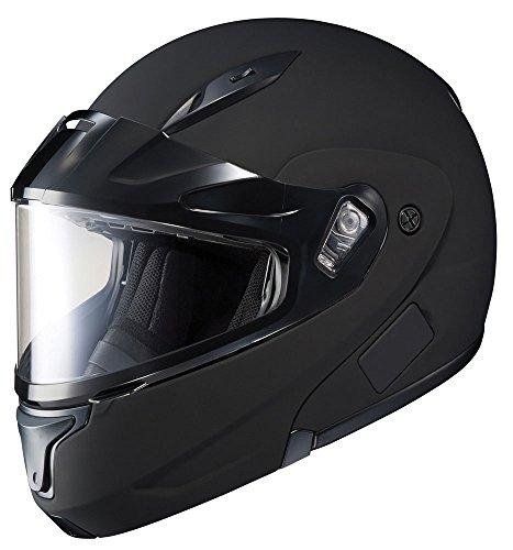 HJC CL-Max 2 Solid Bluetooth Ready Modular Snowmobile Helmet with Dual Lens - Matte Black Medium