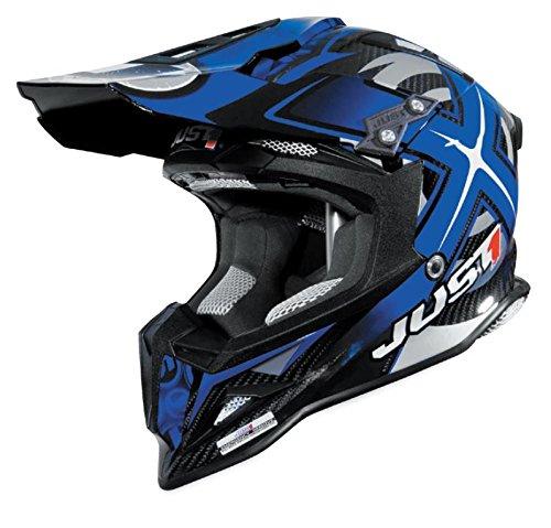 Just 1 J12 Mister X Helmet Gender MensUnisex Helmet Type Offroad Helmets Helmet Category Offroad Distinct Name Blue Primary Color Blue Size XS J1J388BLCBMXXS