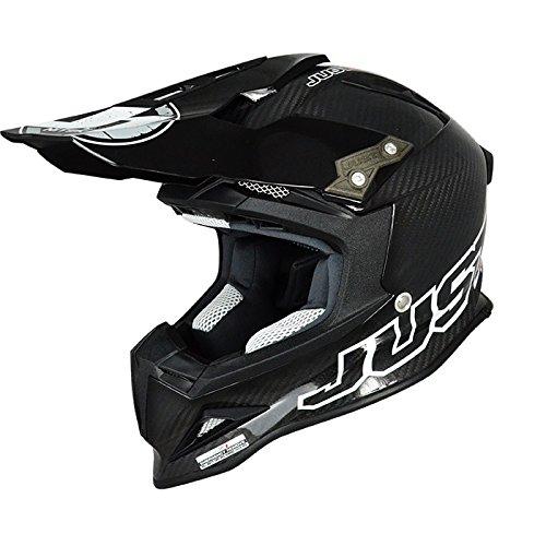 Just 1 J12 Mister X Helmet Gender MensUnisex Helmet Type Offroad Helmets Helmet Category Offroad Distinct Name Carbon Primary Color Black Size XL J1J388BKCBXL