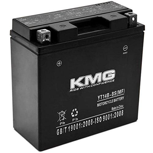 KMG YT14B-BS Battery For Yamaha 1854 Roadliner Raider Stratoliner 2006-2014 Sealed Maintenace Free 12V Battery High Performance SMF OEM Replacement Powersport Motorcycle ATV Snowmobile Watercraft