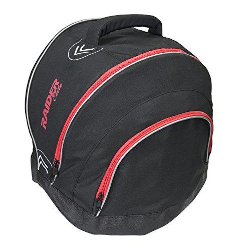 Raider Elite Motorcycle Helmet Bag Storage Fleece Lined Zip Up Black - Waterproof Shell