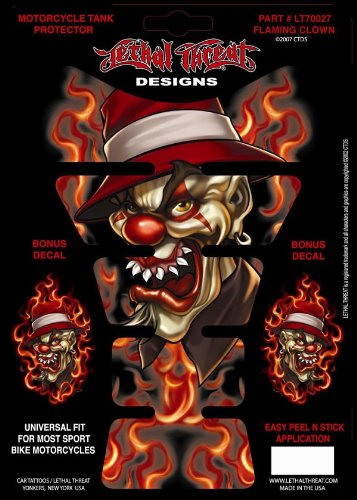 LETHAL THREAT Tank Pad FLAMING CLOWN Product code YSLT70027