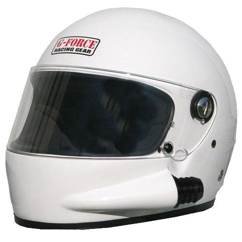 G-Force 3027LRGWH Side Draft White Large SA10 Full Face Racing Helmet