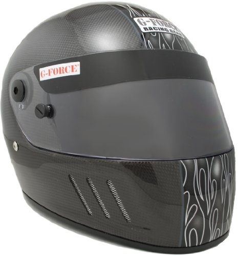 G-Force 3028LRGBK Pro CFG Black Large SA10 Full Face Racing Helmet