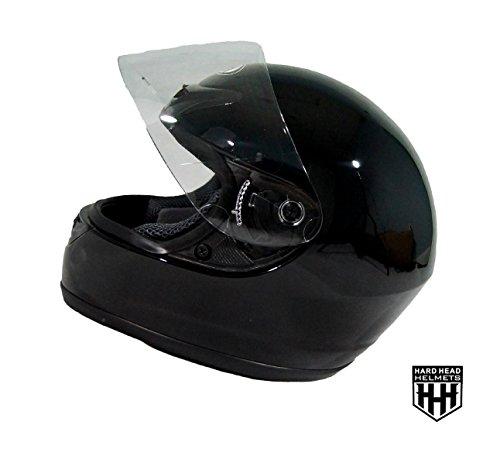 SmartDealsNow MotorCycle Full Face DOT Helmet for Street Bike Dirtbike ATV UTV CHOPPER MX RACING HELMET Gloss Black Extra-Large
