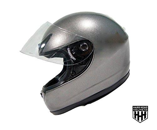 SmartDealsNow MotorCycle Full Face DOT Helmet for Street Bike Dirtbike ATV UTV MOTOCROSS MX RACING HELMET GREY Large