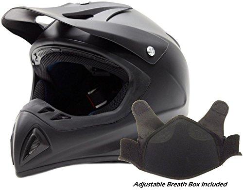 Adult Snocross Snowmobile Helmet - Matte Black  Large