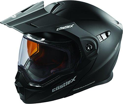 Castle X EXO-CX950 Modular Snowmobile Helmet Solid Matte Black LRG