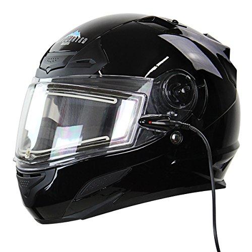 Snow Master TS-44 Black Full Face Snowmobile Helmet - X-Large