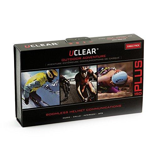 UCLEAR Digital HBC150 Plus Bluetooth Helmet Audio System for Bike SkiSnowboard Rock Climbing and Skateboard Helmets - Single Kit