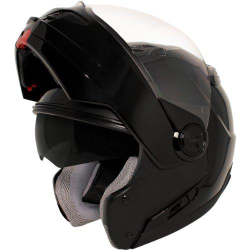 Hawk ST-1198 Transition 2 in 1 Black Modular Helmet - X-Large