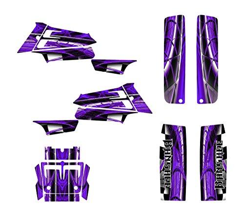 Yamaha Banshee 350 Graphics Decal Kit by Allmotorgraphics NO2001 Purple