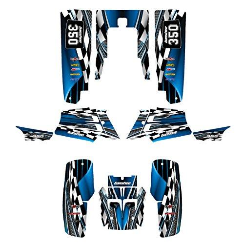 Yamaha Banshee 350 Graphics Decal Kit by Allmotorgraphics NO2500 Blue