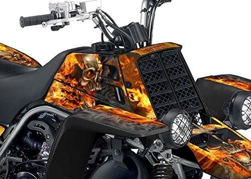 Yamaha Banshee Graphics - Black Natural Fire NITRO Design