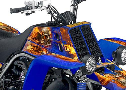 Yamaha Banshee Graphics - Blue Natural Fire NITRO Design