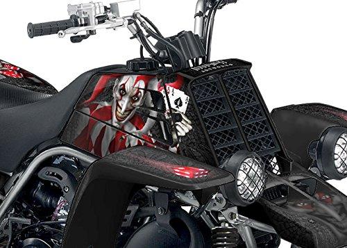Yamaha Banshee Graphics Kit - The Joker - Black Background Red White Joker