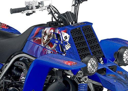 Yamaha Banshee Graphics Kit - The Joker - Blue Background Red White Joker