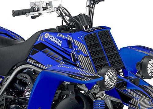 Yamaha Banshee Graphics - Racer-X Blue Background Black Design