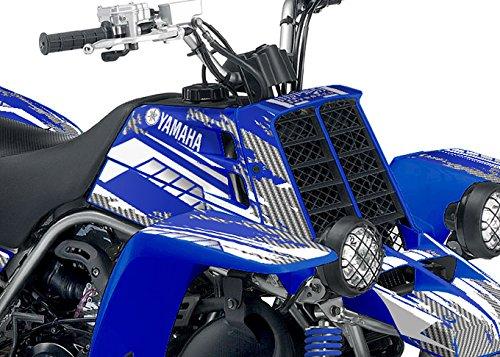 Yamaha Banshee Graphics - Racer-X Blue Background White Design
