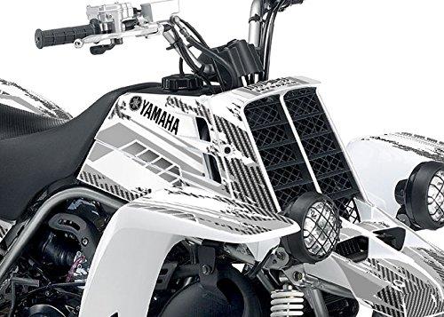 Yamaha Banshee Graphics - Racer-X White Background Grey Design