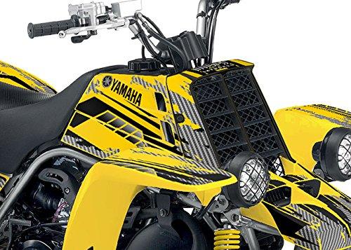 Yamaha Banshee Graphics - Racer-X Yellow Background Black Design