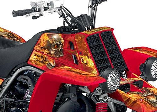 Yamaha Banshee Graphics - Red Natural Fire NITRO Design