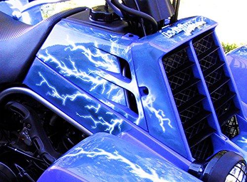 Yamaha Banshee Graphics - Ride the Lightning - Blue Background