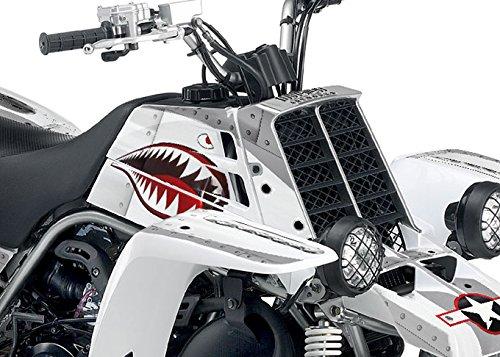Yamaha Banshee Graphics - War Machine - White Background Silver Design