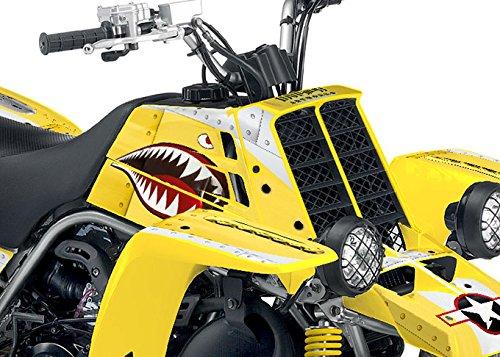Yamaha Banshee Graphics - War Machine - Yellow Background Silver Design